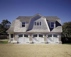 beautiful barn / garage. cedar shingles, beach house look. Edgartown, Massachusetts | Ferguson & Shamamian