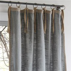 ,En Fil d'Indienne Kadhi Curtain cm Sky En Fil d'Indienne Kadhi Curtain cm Sky What size should curtains be? This is where opinions dif. Curtains With Blinds, Window Curtains, Window Coverings, Window Treatments, Rustic Bedroom Design, Metal Clock, Custom Drapes, Window Dressings, Types Of Furniture