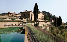 A medieval castle, a church, and a Borgo comprise this centuries-old Tuscan wine estate with storybook-worthy vistas.