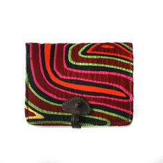I love, love this wallet made from Mola fabric.