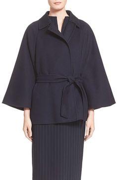 Max Mara 'Robinia' Belted Wool & Angora Coat available at #Nordstrom