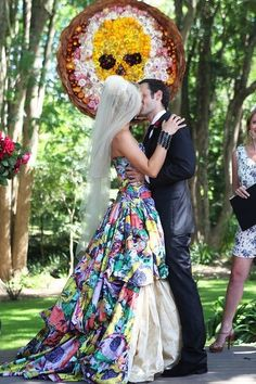 Love the boldness of this and the bride who wears it!    And this one: | 38 Beautifully Modern Wedding Dress Ideas