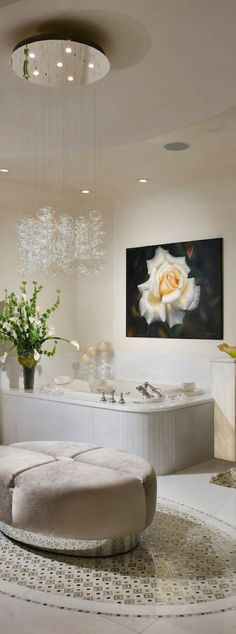 Luxury bathroom elegant home design interior Contemporary Bathroom Designs, Contemporary Decor, Bathroom Modern, Dream Bathrooms, Beautiful Bathrooms, Glamorous Bathroom, Luxury Bathrooms, Small Bathrooms, Home Design