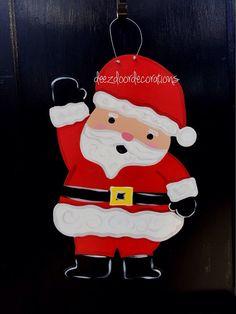 Santa door hangerChristmas door hanger by DeezDoorDecorations
