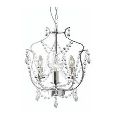 KRISTALLER Chandelier, 3-armed - IKEA - I've always wanted this for a dining room or bedroom! 39.99