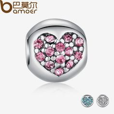 925 Silver Love Of My Life Heart Pink CZ Charm Fit Bracelet Necklace Accessories Bead Jewelry Making PA5283 $3.89   => Save up to 60% and Free Shipping => Order Now! #fashion #woman #shop #diy  http://www.rodjewelry.com/product/925-silver-love-of-my-life-heart-pink-cz-charm-fit-bracelet-necklace-accessories-bead-jewelry-making-pa5283/