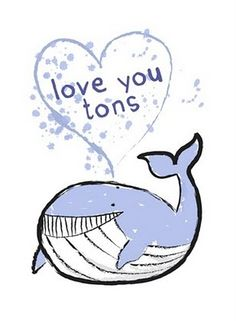 'Love you tons' greetings card design by Jane McGuinness of Whirlygig Collective