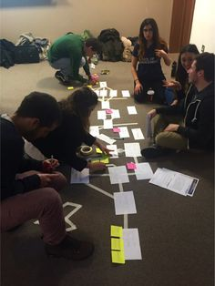Our #MScTE students mapping customer journeys for @RikkeDuus' #marketing class @UCLSoM #Technology #entrepreneurship