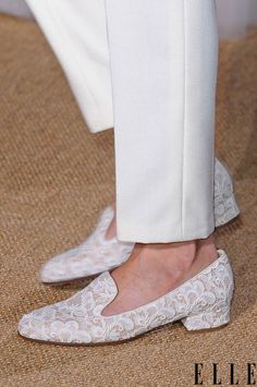 lace loafers at Valentino