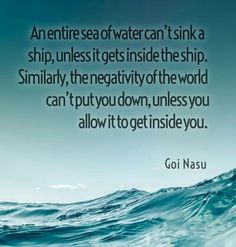 An entire sea of water...Goi nasu