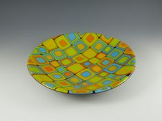 Cellular Bowl by Melanie Feerst Studio. American Made. See the designer's work at the 2016 American Made Show, Washington DC. January 15-17, 2016. americanmadeshow.com #americanmade, #americanmadeshow, #artglass, #glass, #bowl