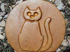 Cat Stepping Stone Garden Plaque by MountainArtCasting on Etsy