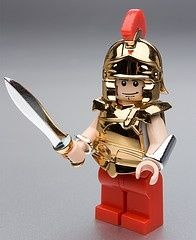 Rare Lego mini figure. Could be a Roman? Or even a fighter in capture the flag? (;