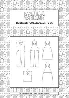 PDF-Roberts Sammlung Nähen/Kleid Muster von MarillaWalker auf Etsy