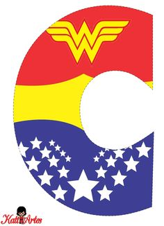 Wonder Woman Letter C Wonder Woman Birthday, Wonder Woman Party, Girl Themes, Kid Character, Alphabet And Numbers, Superhero Party, Holidays And Events, First Birthdays, Party Themes
