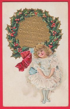 E Nash Antique Vtg Postcard Christmas Nation Series 13 Victorian Girl 1910 VG http://unbelievable-nice-item.newoffers.info/buy/01/?query=111774752762…