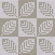 Knitting Charts, Knitting Stitches, Knitting Designs, Knitting Patterns, Crochet Blocks, Crochet Chart, Cross Stitch Borders, Cross Stitch Patterns, Tapestry Crochet Patterns