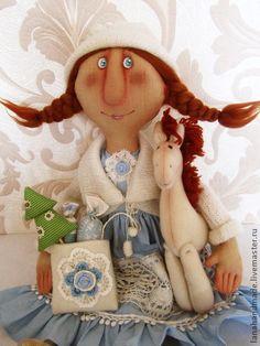 Коллекционные куклы ручной работы. Ярмарка Мастеров - ручная работа Снегурочка с лошадкой.. Handmade.