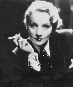 wore masculing outfits rather than feminine ans uncomfortable clothes Marlene Dietrich