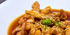 Ingredients: cup lite soy sauce 3 tbsp prepared spicy brown mustard 1 tbsp firmly packed brown sugar tsp ground ginger 1 t. Sesame Chicken, Teriyaki Chicken, I Love Food, Good Food, Awesome Food, Toasted Sesame Seeds, Saute Onions, Food To Make, Spicy