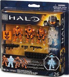 diego  wants for birth day Halo Mega Bloks Set #97083 UNSC Combat Orange Unit