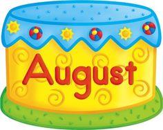 August birthday cake