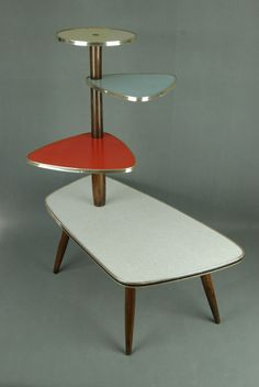 1950s PLANTSTAND Mid Century Danish Modern Plant Stand Vintage Eames 60s 70s  #Midcentury