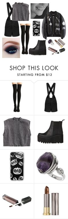 """Untitled #680"" by akts on Polyvore featuring H&M, Windsor Smith, Casetify, Topshop and Urban Decay"