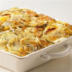 Potato gratin; idea for Anita. (There is an unreasonable amount of food in this story. Thematically appropriate, perhaps.)