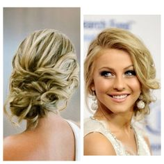 Bridesmaid: Loose updo with volume from the front