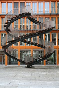 Endless stairway art at KPMG Headquarters, Munich, Germany Stairway To Heaven, Stairway Art, Interior Stairs, Interior Exterior, Interior Design, Architecture Cool, Architecture Student, Escalier Art, Take The Stairs