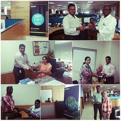 Deloitte Chennai professionals celebrating the grand day of Brand Identity Refresh.