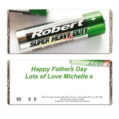 Batteries Chocolate Bar | Chocolate | Exclusively Personal