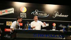 Three-star chef Joan Roca on the first day of Madrid Fusión 2014 doing his presentation, Creatividad Urbana:  Inspiración Externa, Motivación Interna.  Photo by Gerry Dawes©2013 / gerrydawes@aol.com / Facebook / Twitter / Pinterest. Canon 5D Mark III / Canon 24-105mm f/4L IS USM.