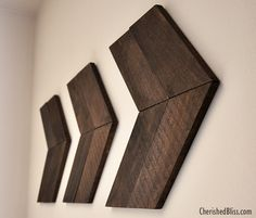DIY Wooden Arrows from Cherished Bliss. Lovely wall art!