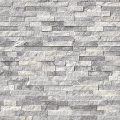 Rockmount Alaska Gray 6 X 24 Ledger Panel-Alaska Gray Stacked Stone panels are crafted from fine split face marble. The soft gray tones are complemented by the natural variance and veining of marble. Use to create beautiful design features includin