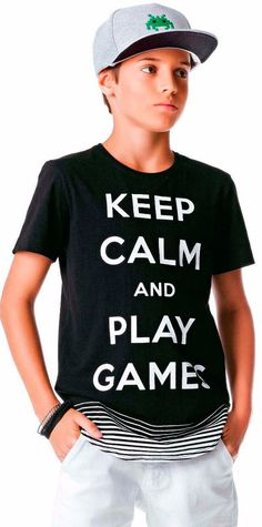 281adda96c Camiseta Infantil Johnny Fox Longer Keep Calm and Play Games