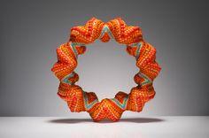 by Suzanne Golden - tubular, spiral peyote stitch