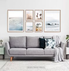 Ocean Wall Art Set of Coastal Surf Prints. Surf Decor, Coastal Wall Art, Beach Wall Art, Coastal Decor, Diy Home Decor, Plage Art Mural, Deco Surf, California Palm Trees, California Decor