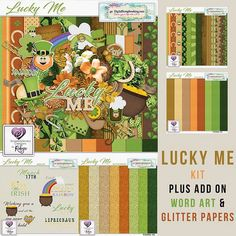 Scrapbookcrazy Creations by Robyn has a released a new kit, Lucky Me, that's PERFECT for your St. Patrick's Day layouts!  Available at GDS: http://www.godigitalscrapbooking.com/shop/index.php?main_page=index&manufacturers_id=178