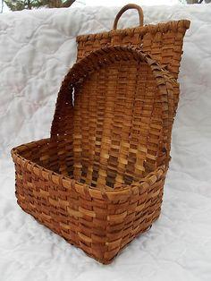early oak splint wall basket
