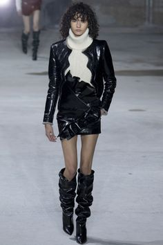 Runway #fashion review #PFW Fall17: Saint Laurent just won't let go of bad 80's style - the good, the bad, the ugly
