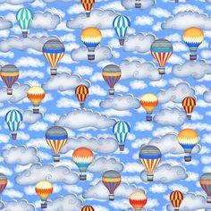 Balloon Race fabric by kezia on Spoonflower - custom fabric