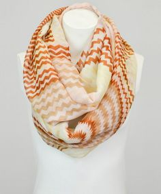 Look what I found on #zulily! Mocha Zigzag Infinity Scarf by Leto Collection #zulilyfinds