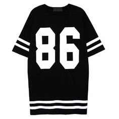 86 Ovesized Tee ❤ liked on Polyvore featuring tops, t-shirts, shirts, dresses, black tee, cotton tee, black cotton top, black cotton t shirt and black top