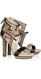 Burak UyanCutout suede and leather sandals