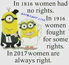 Funny Minion Quote About Women vs. Rights