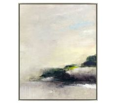 Gray Evening Abstract Framed Canvas | Pottery Barn