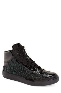 a79107e02c5 Jimmy Choo Glitter High Top Sneaker (Men) Mens Fashion