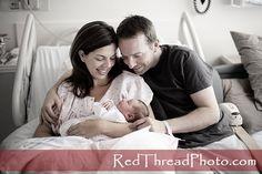 cute newborn hospital photo